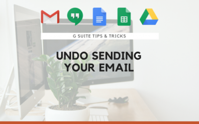 Undo Sending Your Email